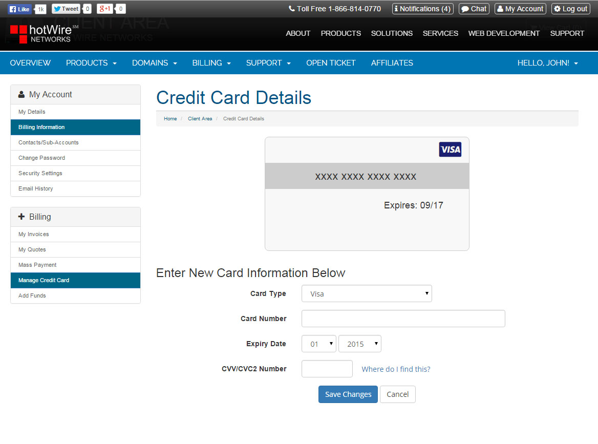 Update Your Credit Card Step 3