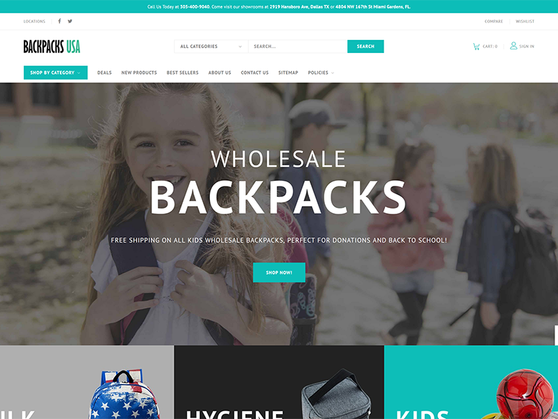 Bulk Wholesale Bakcpacks for Kids Donations and Charity Evens