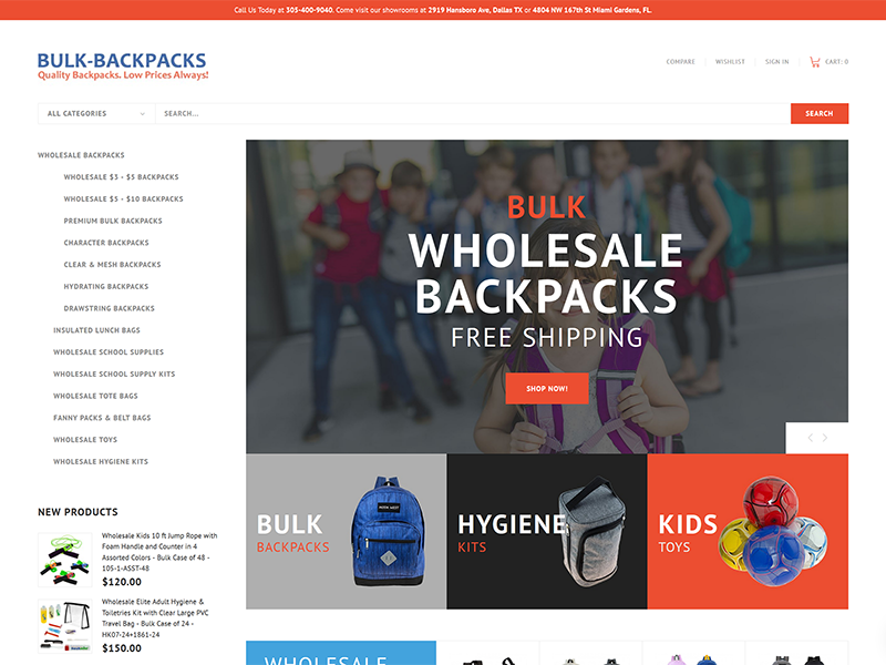 Bulk Wholesale Bakcpacks for Boys and Girls Back to School
