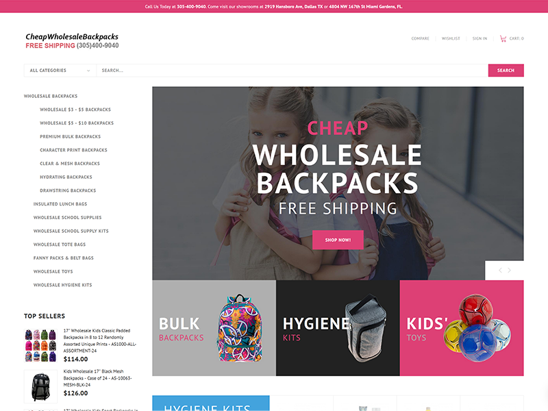 Cheap Bulk Wholesale Bakcpacks for Kids Back to School