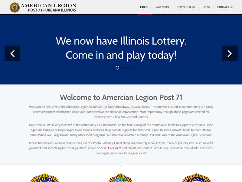 The American Legion Post 71 Urbana Illinois