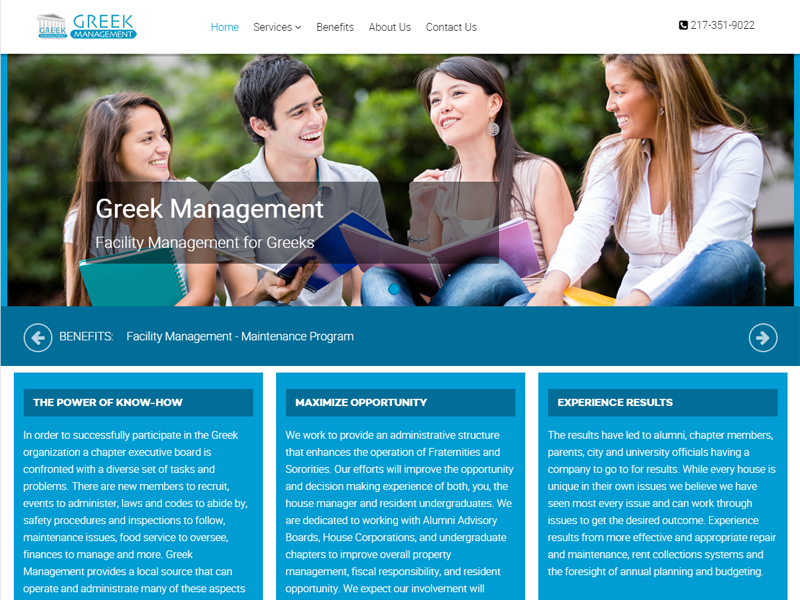 Greek Management Champaign Illinois
